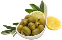 Amfissa grüne Oliven mit Stein